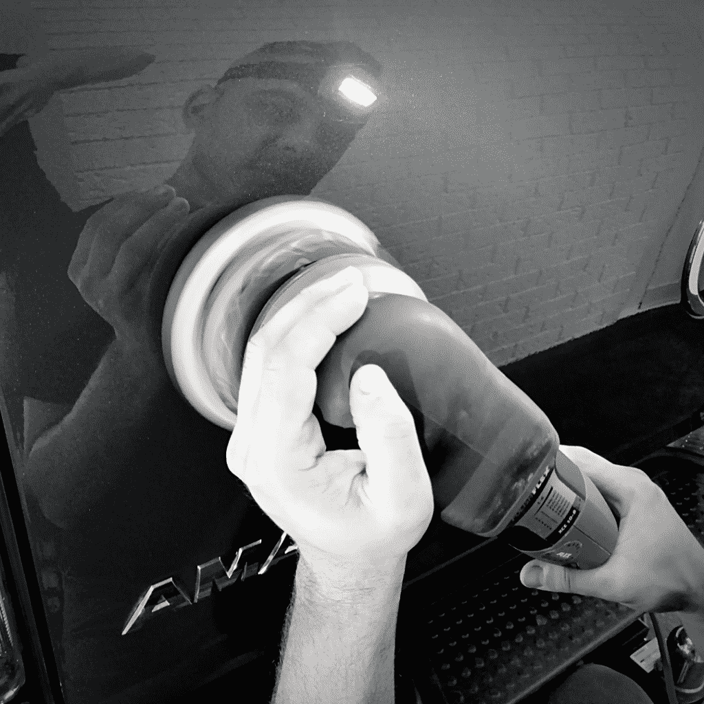 Fouad from A Buff and Beyond carrying out paint correction